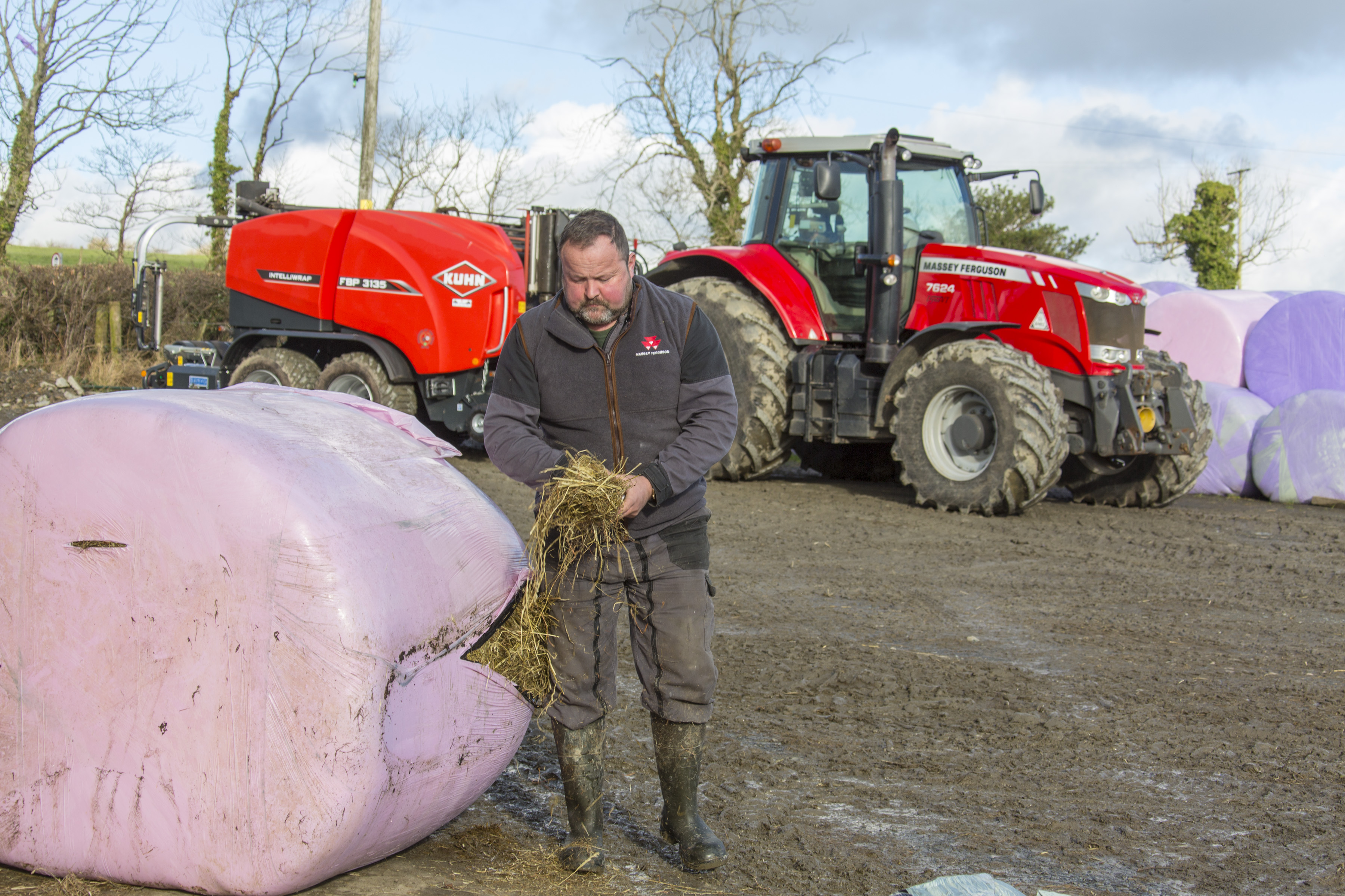 Separating net from wrap prior to recycling is a thing of the past for farmer and contractor Mike Hughes.